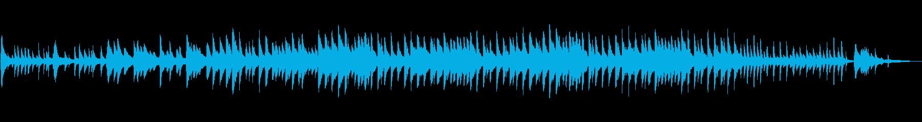 悲壮感のある悲しいピアノ曲の再生済みの波形