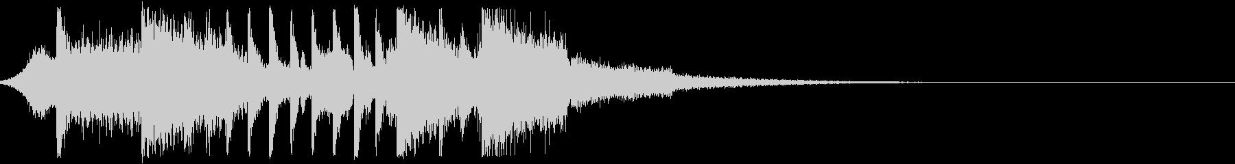 アグレッシブでハードなEDM系ジングル1の未再生の波形