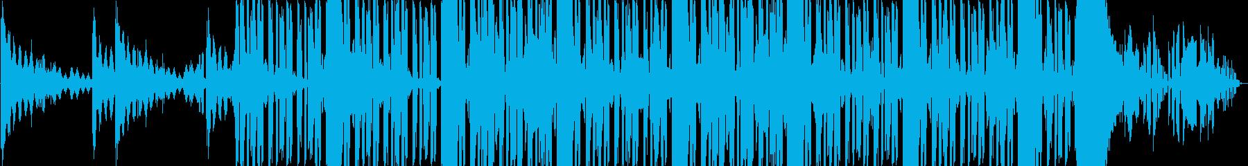 ジャズ風のローズピアノのコードとブ...の再生済みの波形