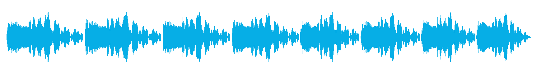 ピヨピヨピヨ(転がるようなコミカルな音)の再生済みの波形