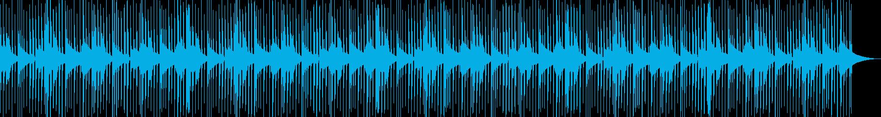 シンプルなhip-hop beatsの再生済みの波形