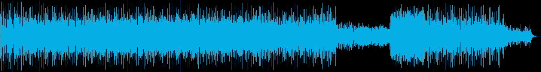 サスペンスタッチのミニマルテクノの再生済みの波形