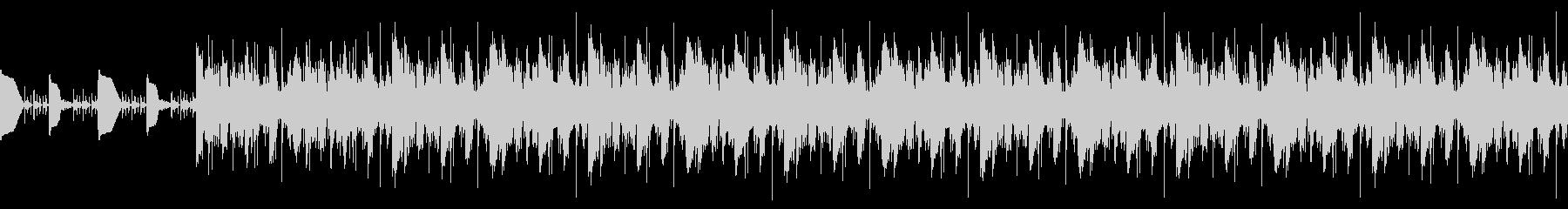 ポップBGMの未再生の波形
