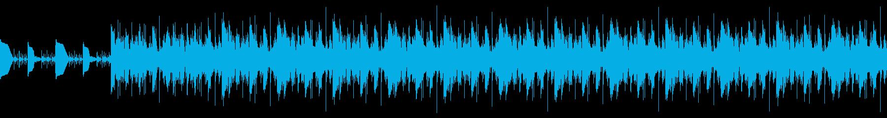 ポップBGMの再生済みの波形