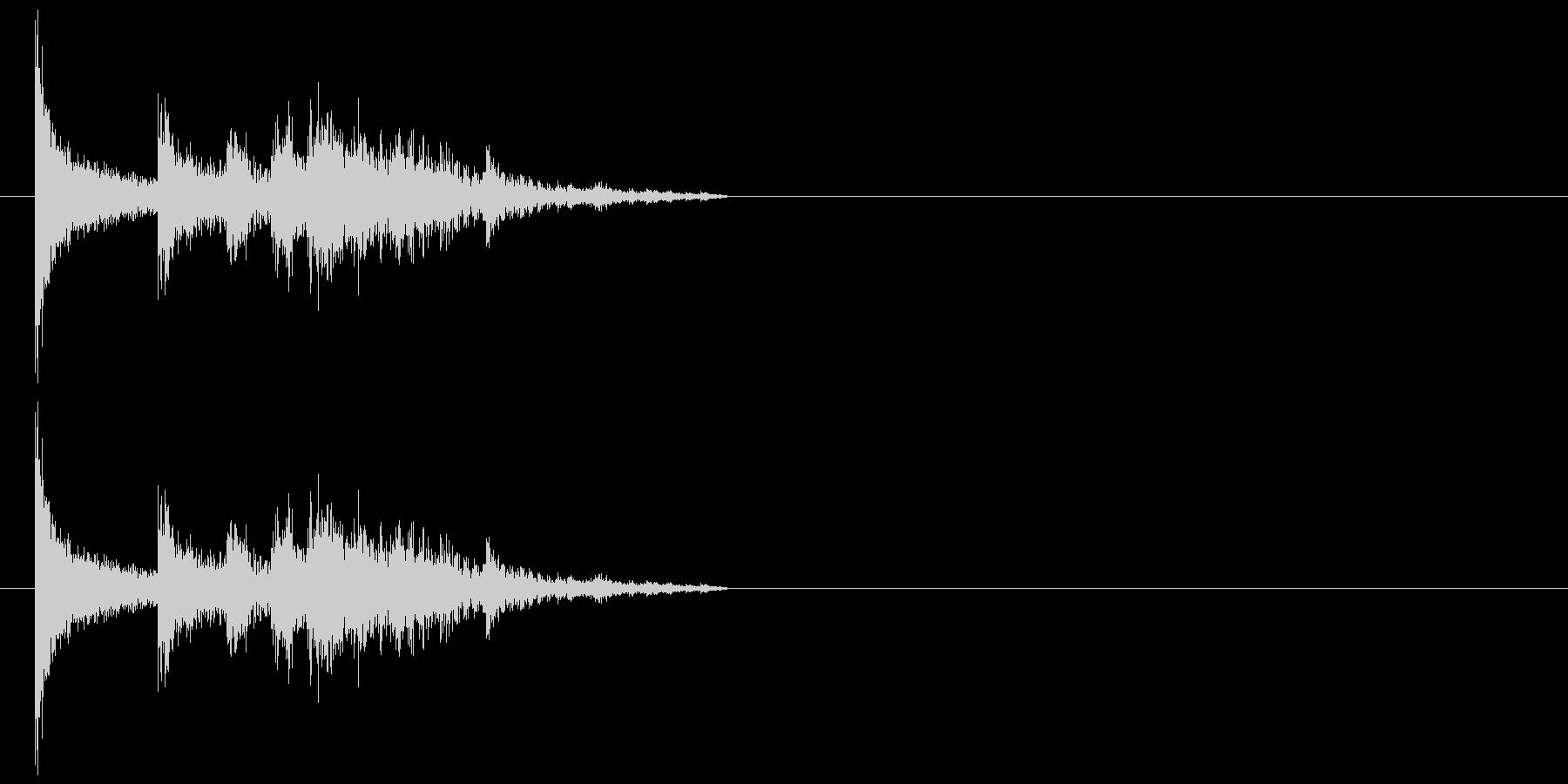 物が落ちる音 5の未再生の波形