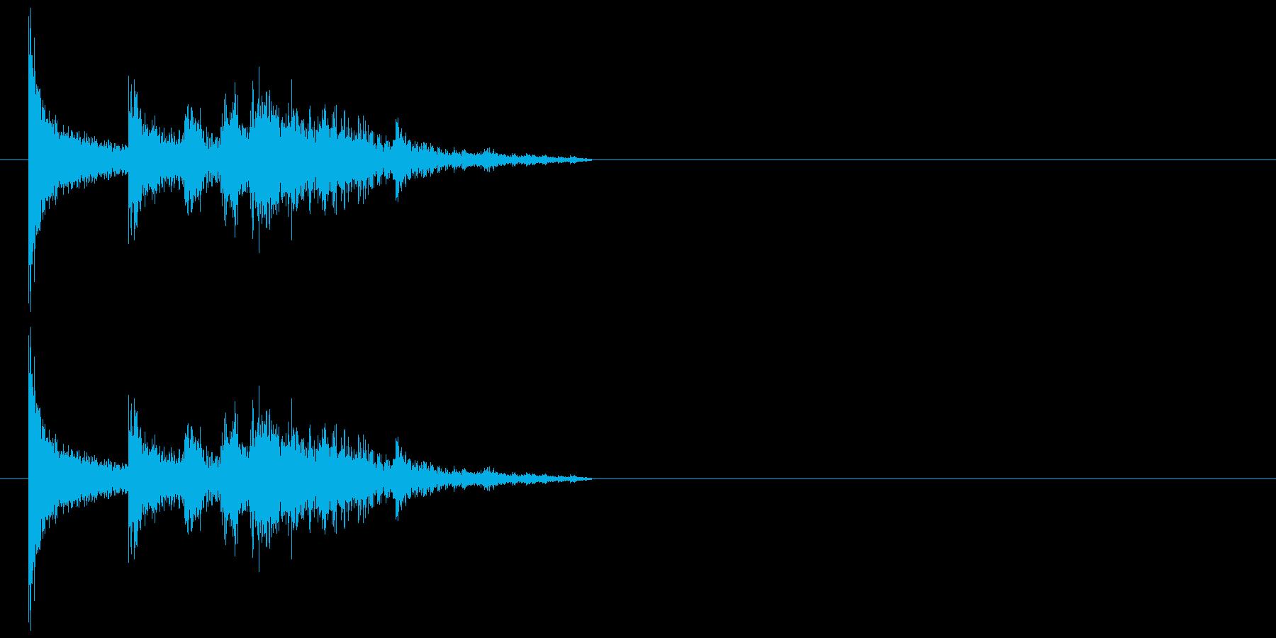 物が落ちる音 5の再生済みの波形