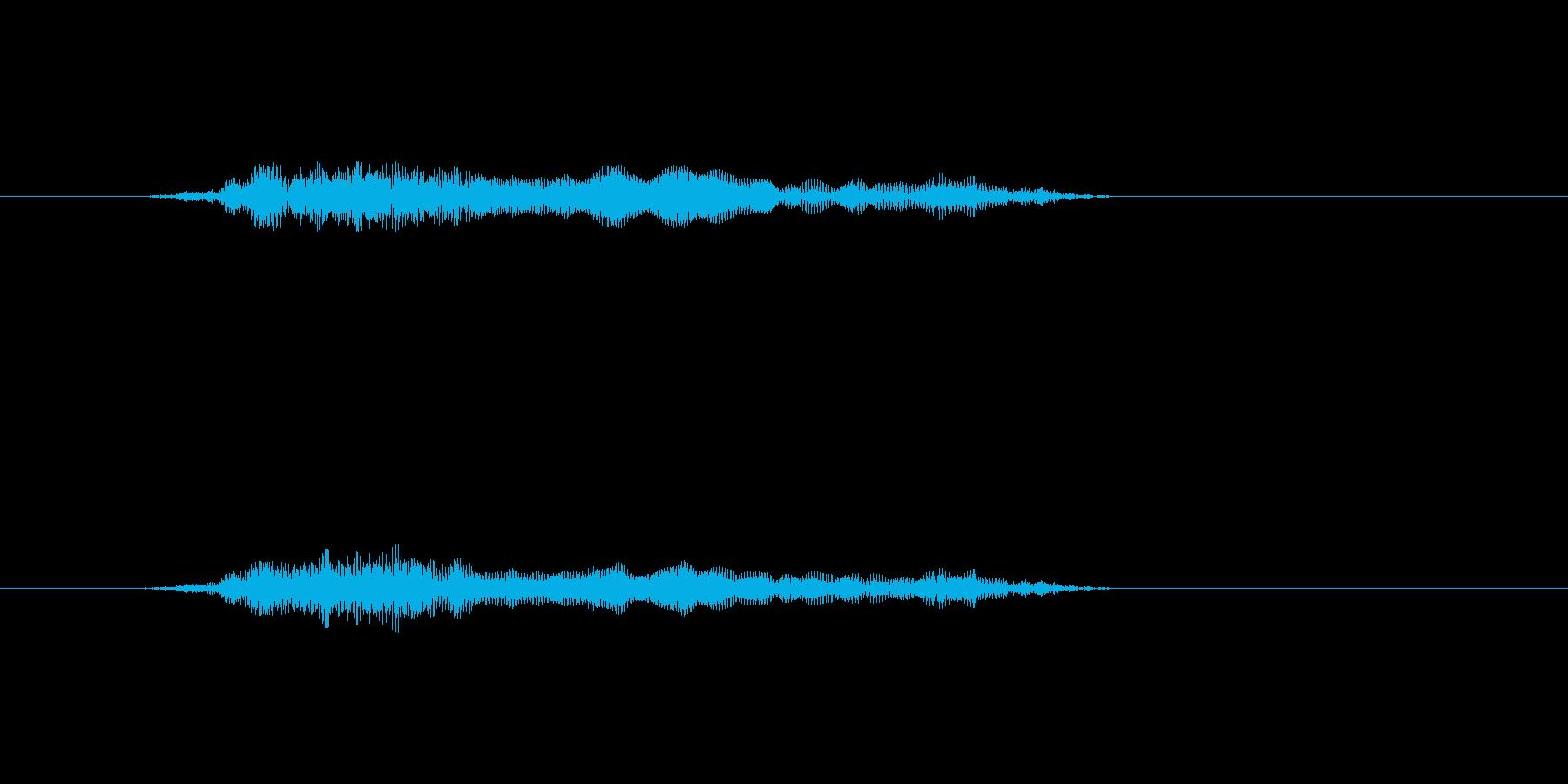 「猫の鳴き声002」にゃーおの再生済みの波形