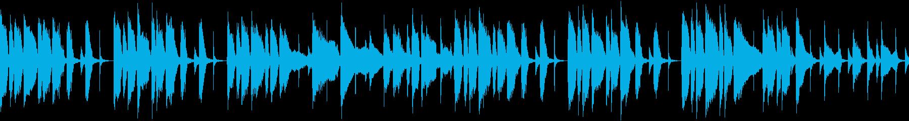 コミカルで気の抜ける曲(ループの再生済みの波形