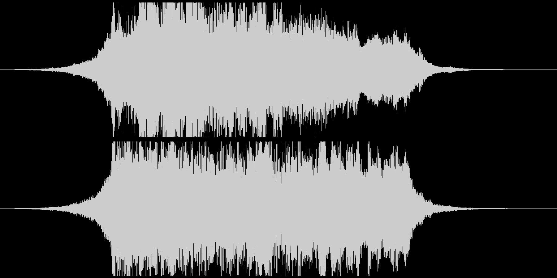 オーケストラテイストの壮大なジングルの未再生の波形