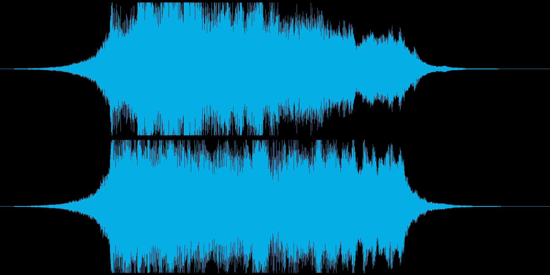 オーケストラテイストの壮大なジングルの再生済みの波形