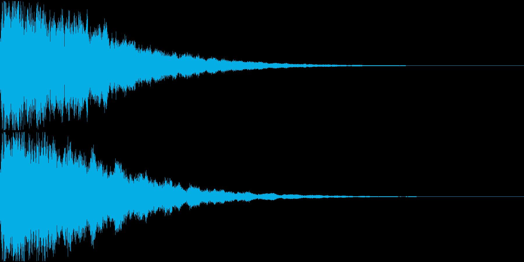キュイン ギュイーン シャキーン 02の再生済みの波形
