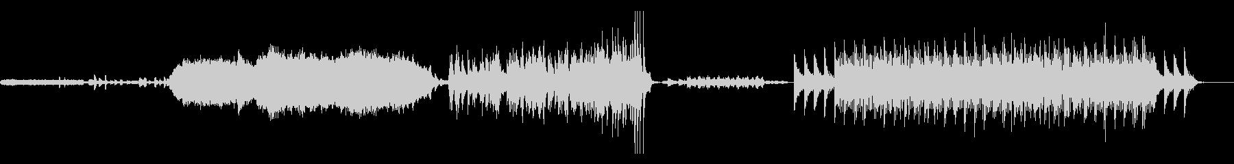 ピアノソロメインのアンビエント 映画等にの未再生の波形