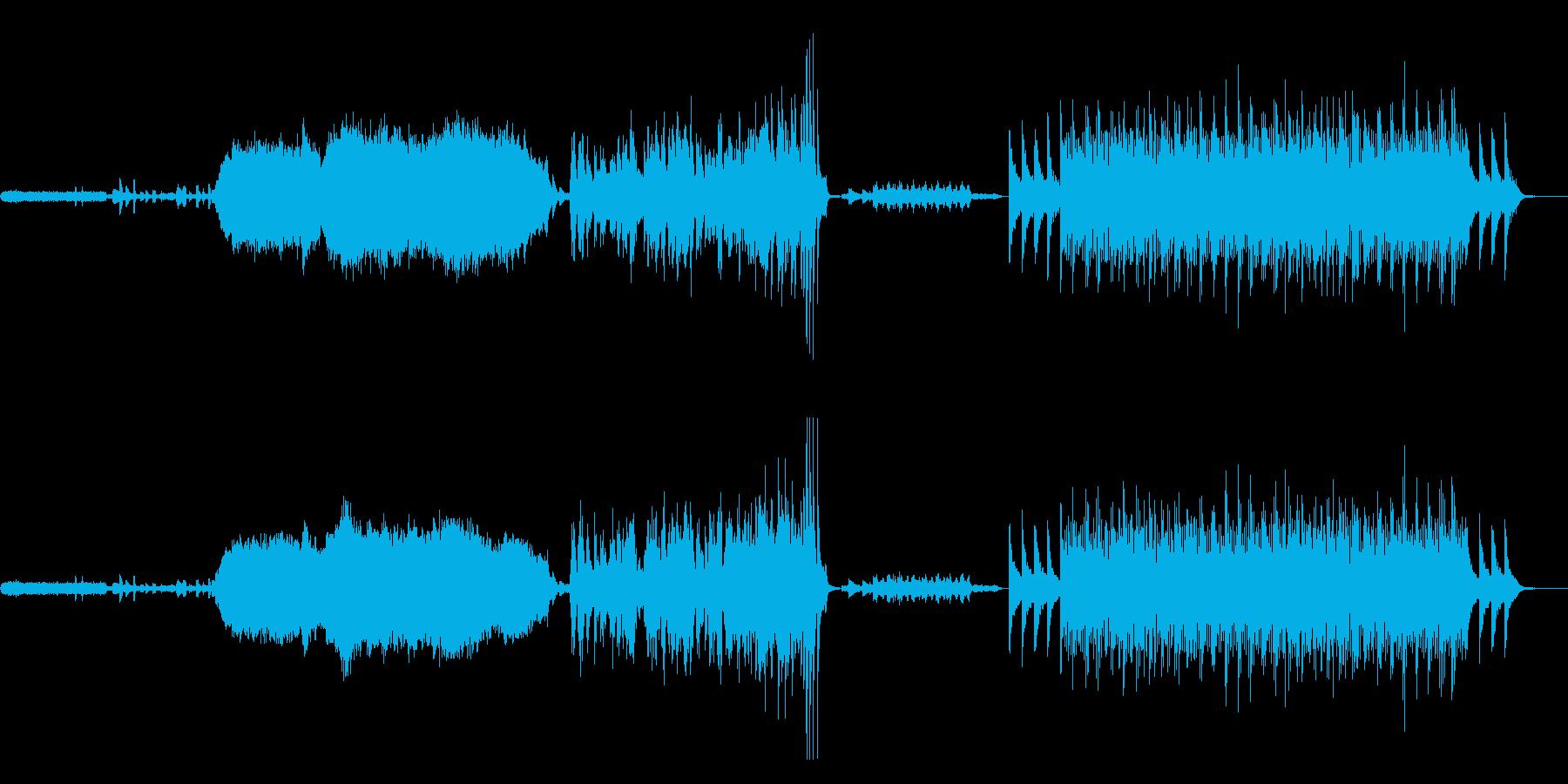 ピアノソロメインのアンビエント 映画等にの再生済みの波形