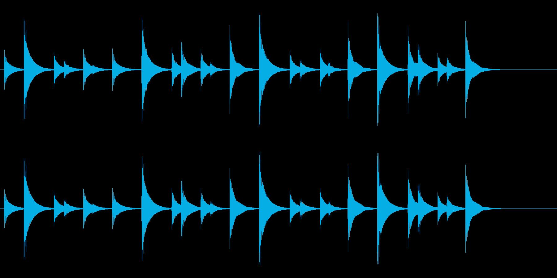 和太鼓の締太鼓のお祭りフレーズ音の再生済みの波形