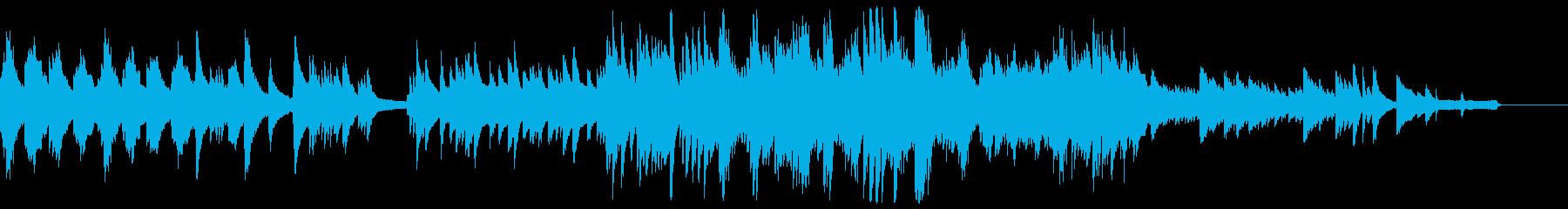 暖かくも少し切ない雰囲気のピアノ曲の再生済みの波形