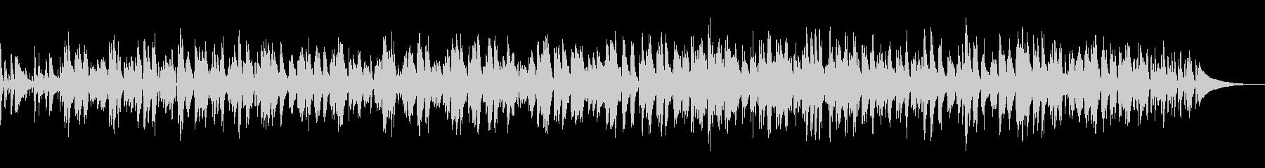 穏やかなラウンジ風ボサノバ/ピアノトリオの未再生の波形