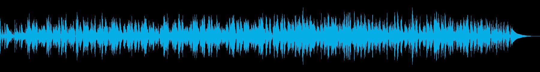 穏やかなラウンジ風ボサノバ/ピアノトリオの再生済みの波形