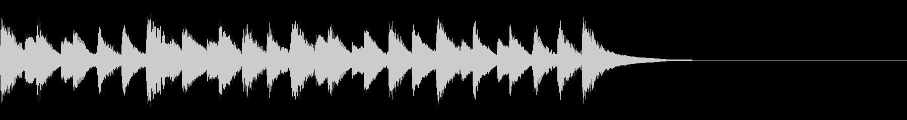 無邪気で優しい日常的なマリンバ曲の未再生の波形
