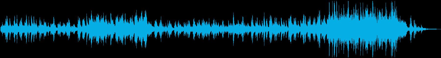 切ないピアノソロ曲。ADVゲームや広告にの再生済みの波形