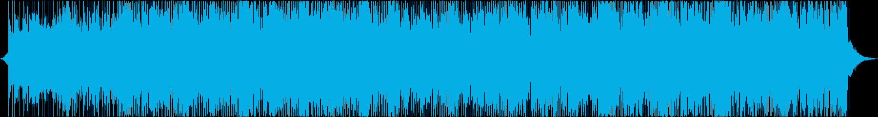 未来的で現代的な音楽の再生済みの波形