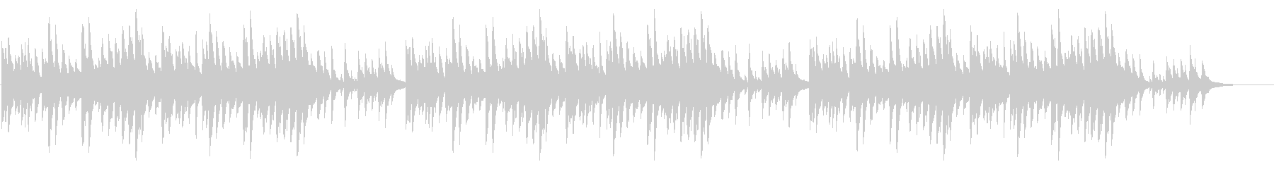 童謡「赤とんぼ」シンプルなピアノソロの未再生の波形