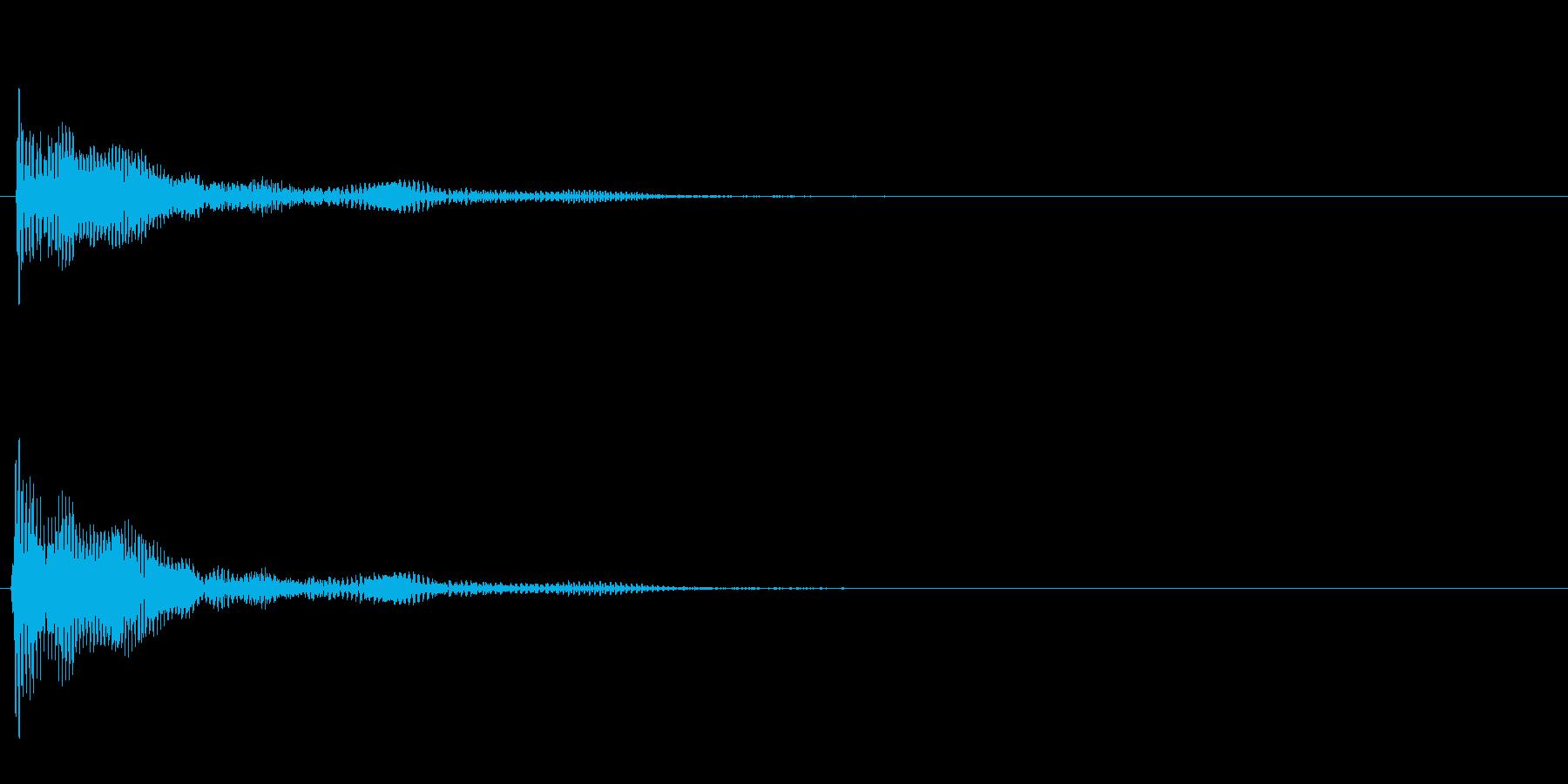 ぶーん↓の再生済みの波形