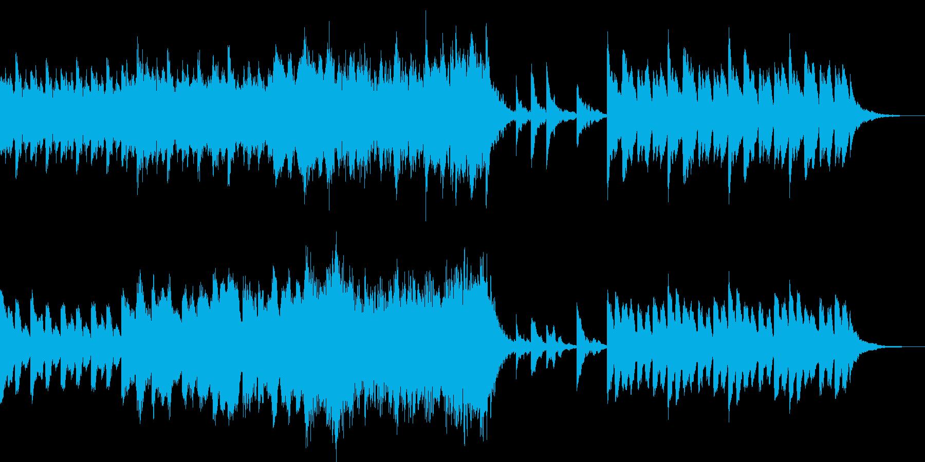 シネマチックなピアノサウンドの再生済みの波形