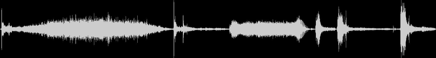 マシンバンドソーの未再生の波形