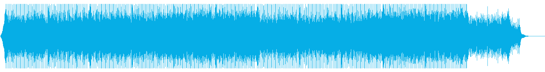 ピアノリフがリードするコーポレート曲の再生済みの波形