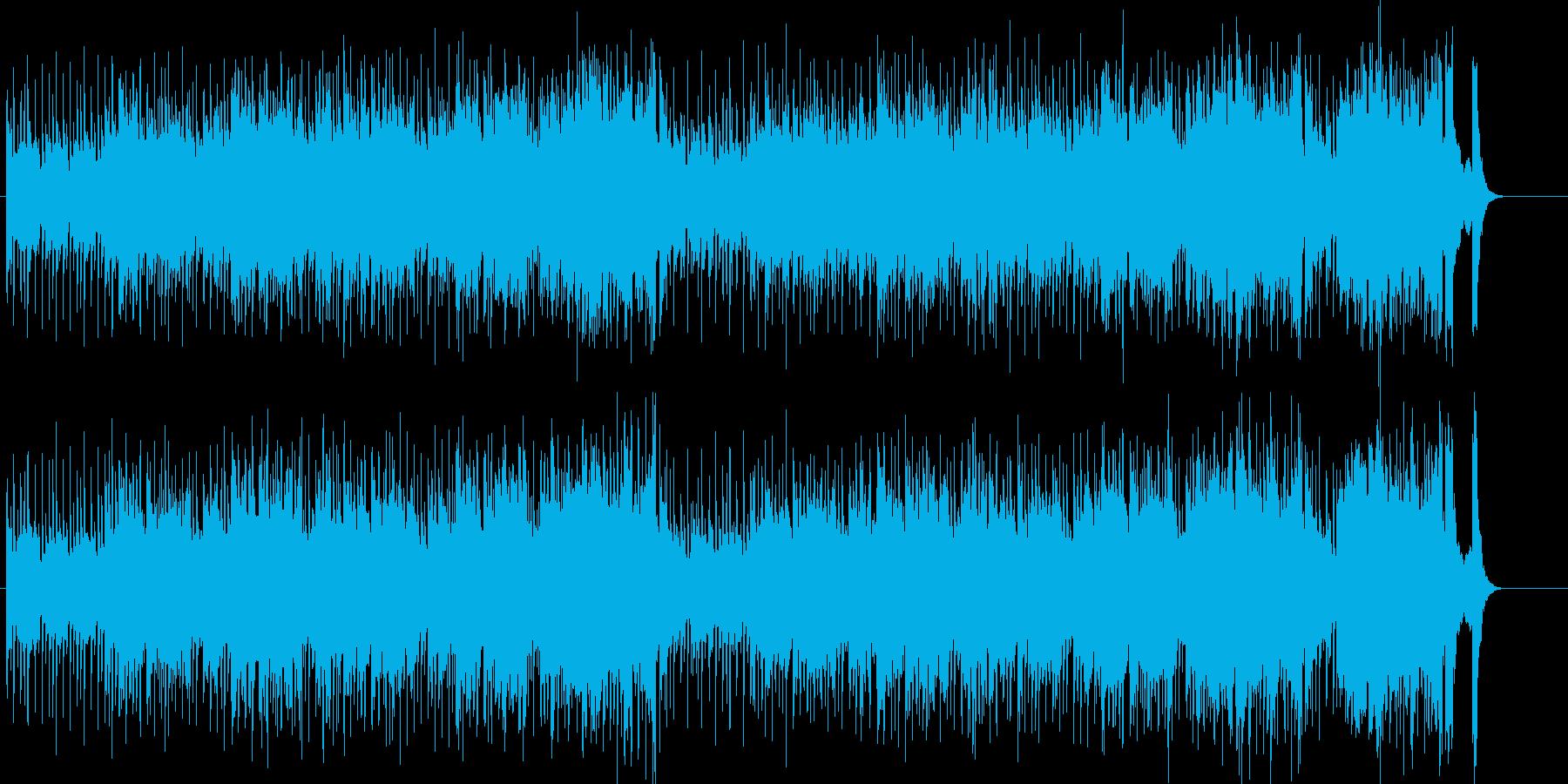 ファンキーでアップビートなオープニングの再生済みの波形