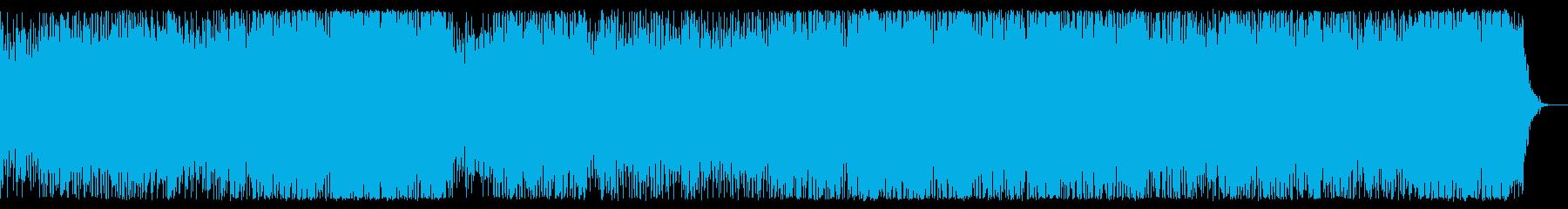 キラキラとした氷の結晶のような曲の再生済みの波形