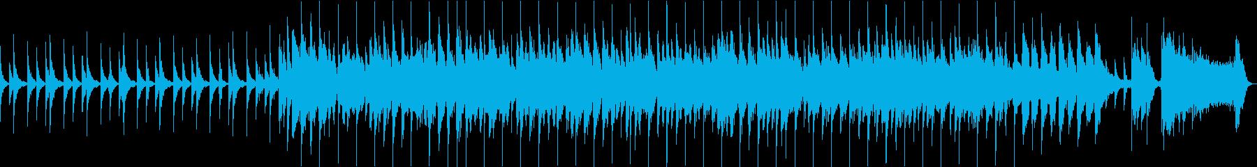 ピアノメインの明るい曲の再生済みの波形