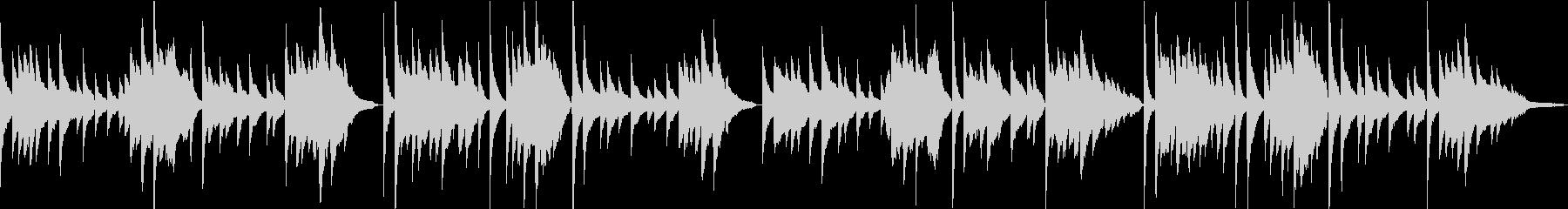 「蛍の光」ピアノアレンジ リバーブなしの未再生の波形