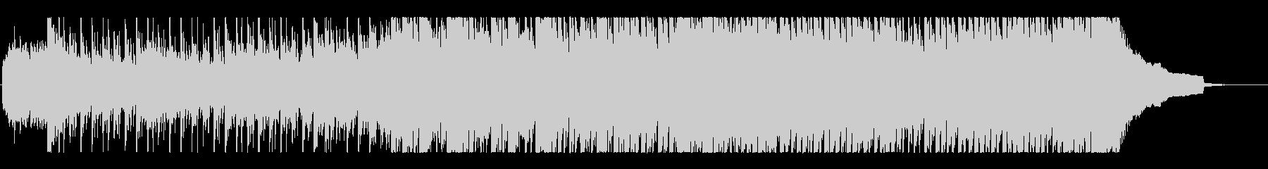 爽やかでスピード感のあるBGMの未再生の波形