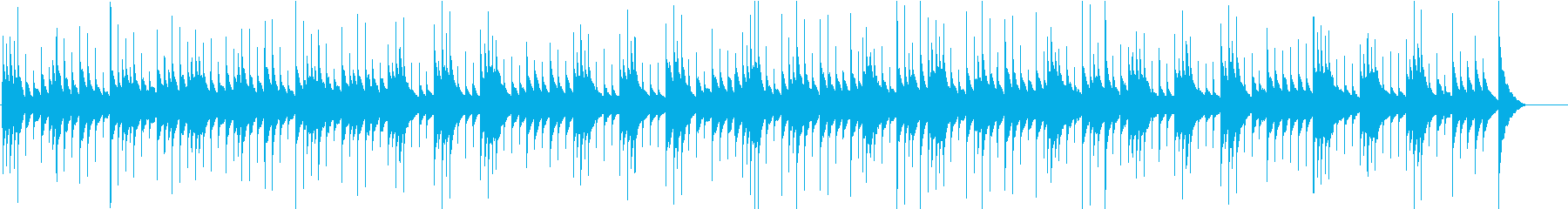 ノスタルジックで切ないオルゴールの再生済みの波形