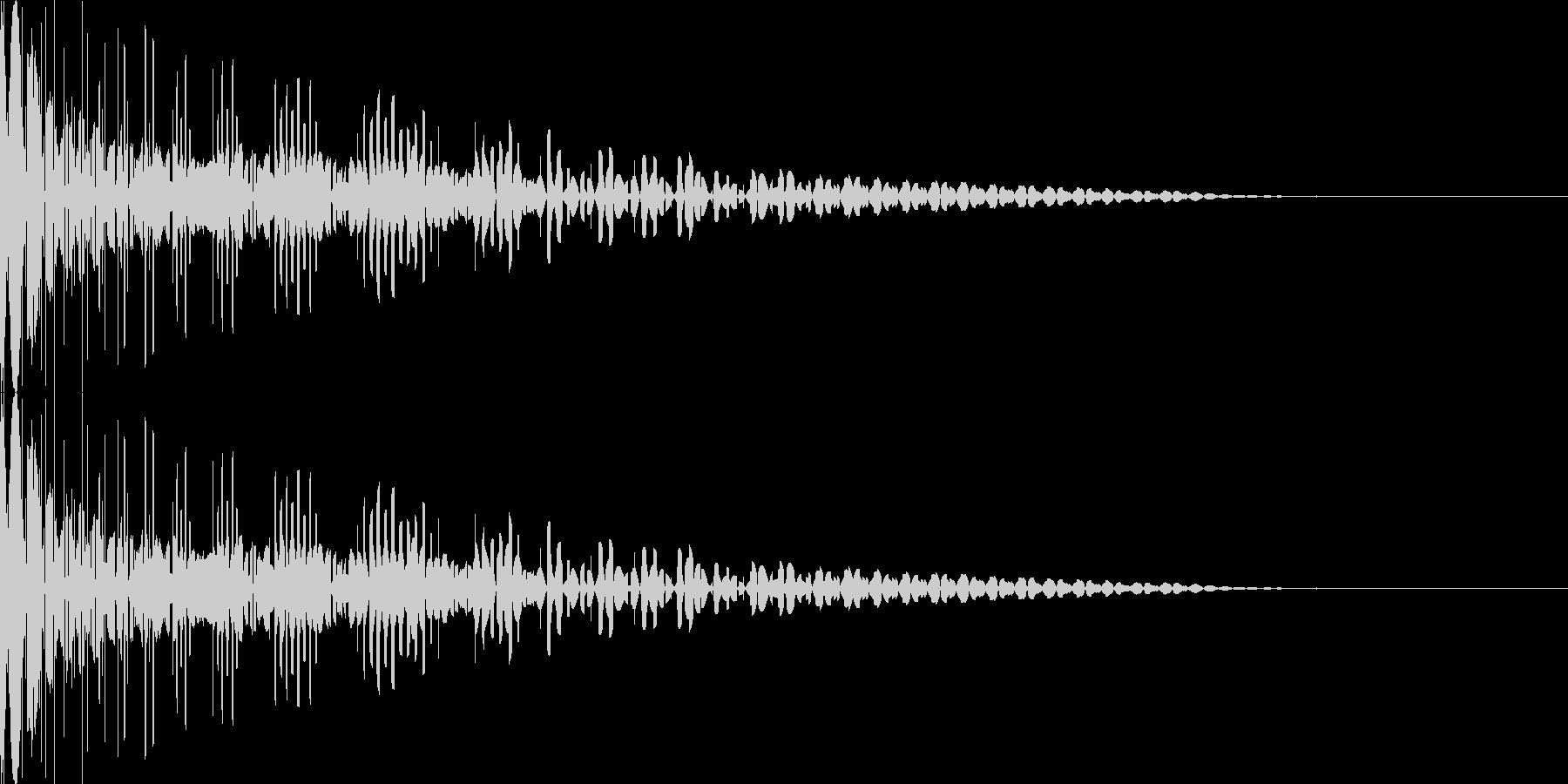 ドゥーン 8ビット 効果音の未再生の波形