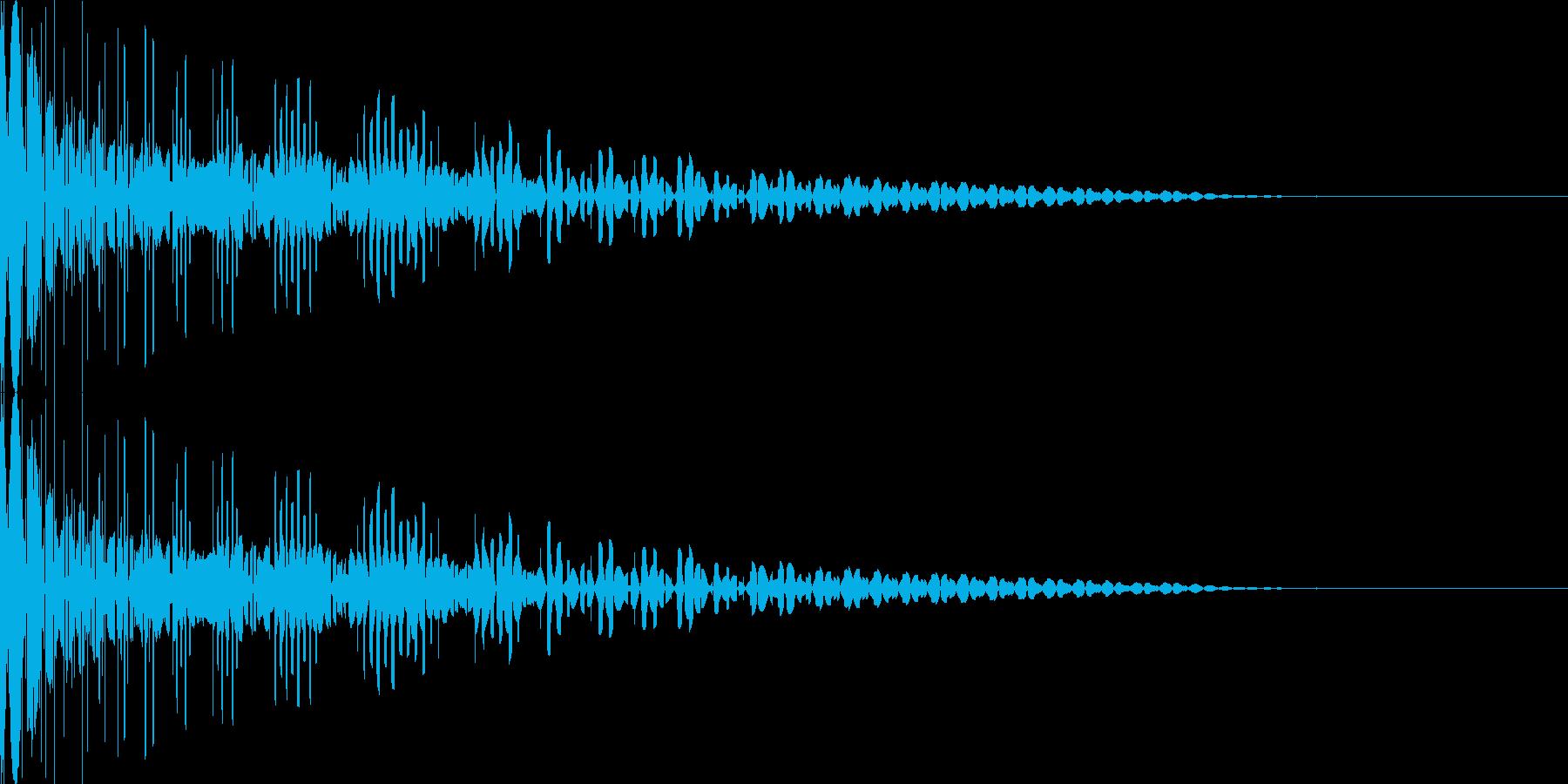 ドゥーン 8ビット 効果音の再生済みの波形