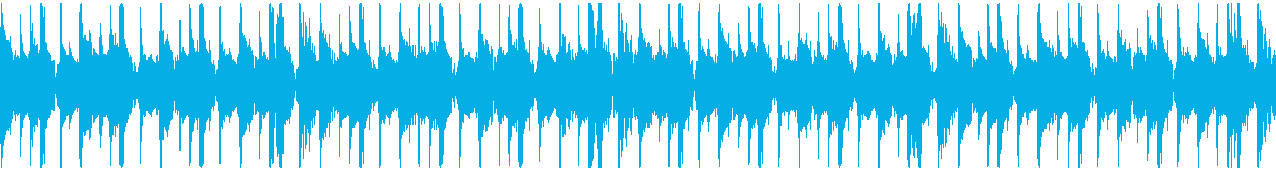 トロピカル・おしゃれ・軽快BGMループの再生済みの波形