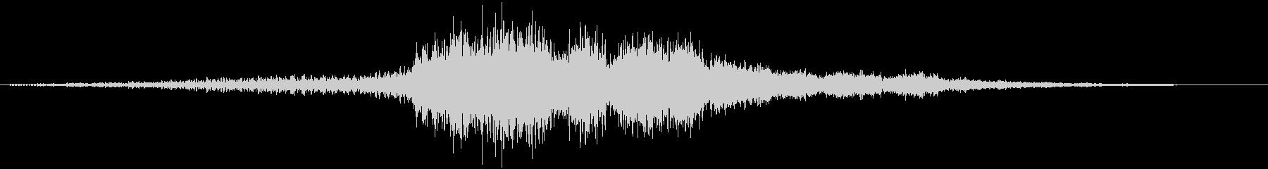 時間の停止や逆行などの抽象的な音#5の未再生の波形
