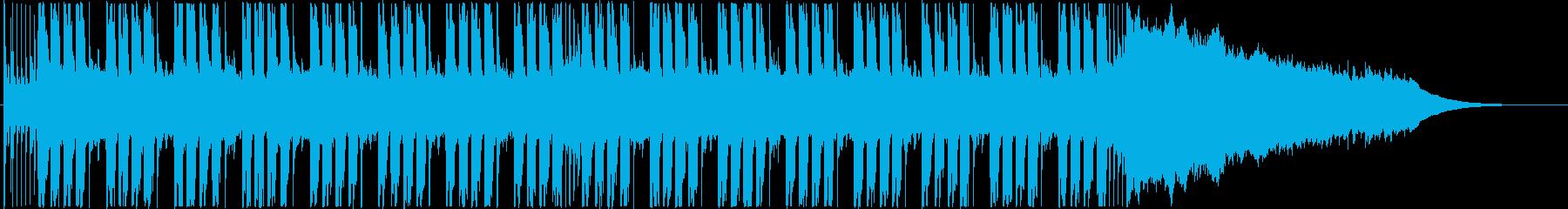 ミドルテンポの爽やかなロックの再生済みの波形
