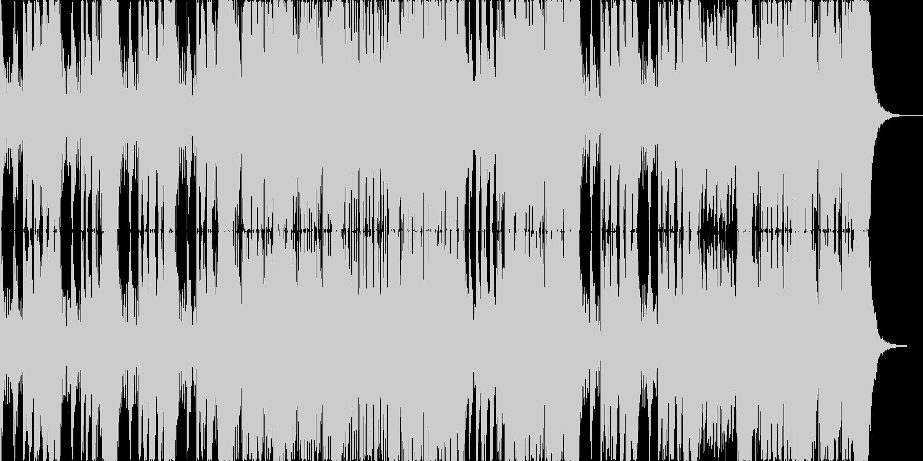 シネマティックなドラムだけの激しい曲の未再生の波形