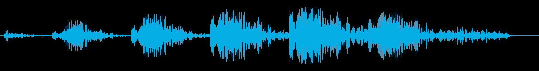 シュワンシュワン(風の音)の再生済みの波形