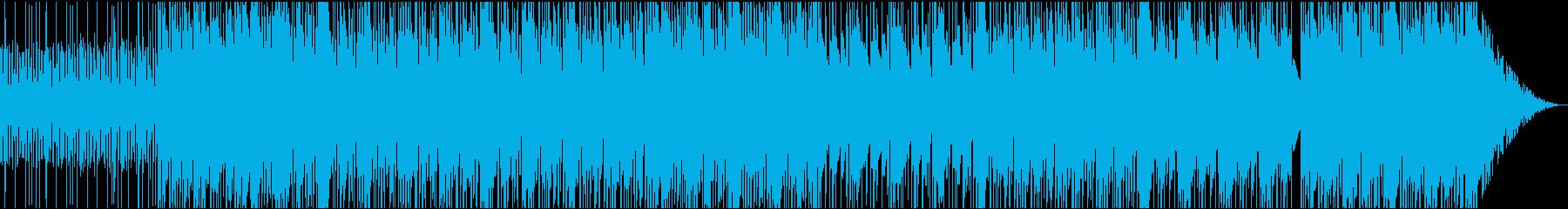 軽快で明るいトラップ(ヒップホップ)の再生済みの波形