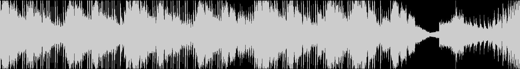 シンセサイザーっぽい音色のループ音楽の未再生の波形