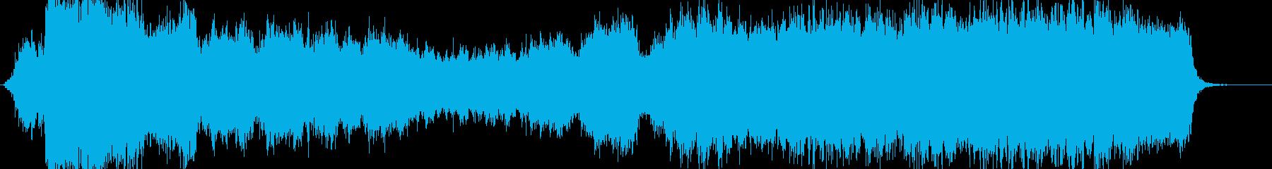 ファンタジー系のオーケストラルな曲の再生済みの波形