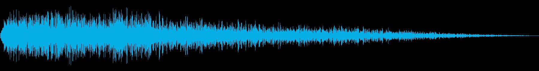 大爆発、デブリなし爆発と爆弾の再生済みの波形