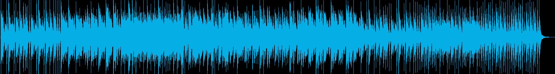 ダークな和風のピアノインストの再生済みの波形