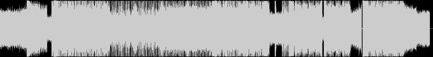 ハイテンポで荒々しいメタルの未再生の波形