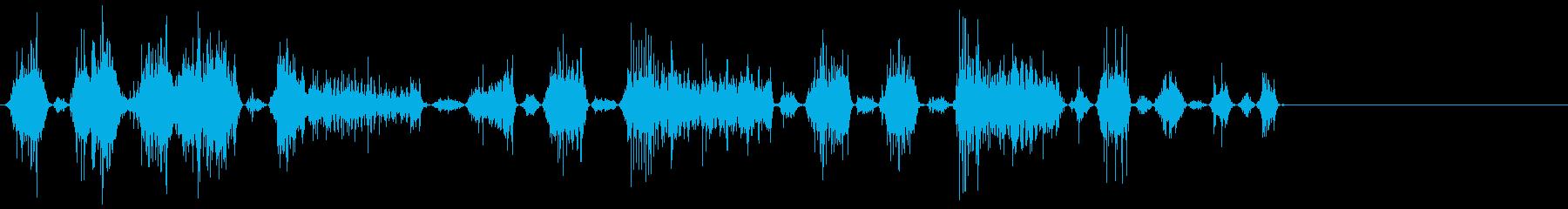 モンスター怒り1の再生済みの波形