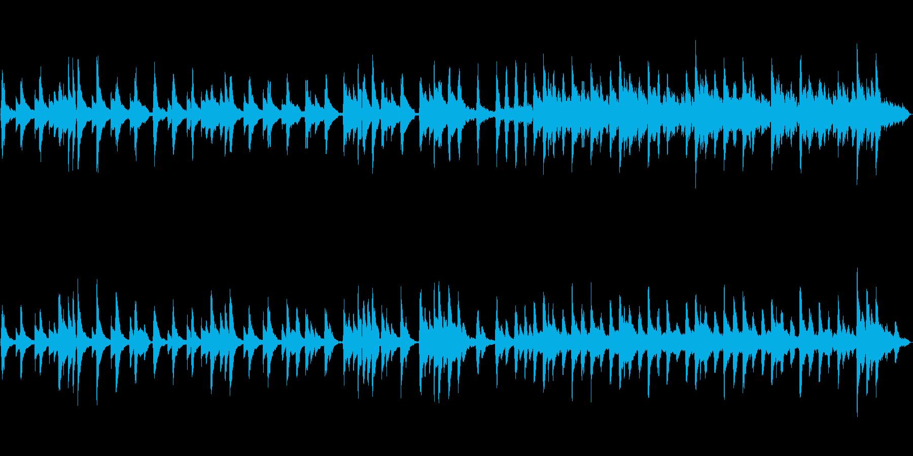 琴、ストリングス、ハープ使用和風曲、正月の再生済みの波形